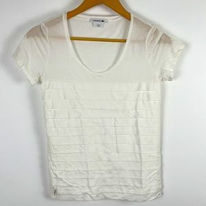 ✨3/$25✨Lacoste White Layered Front Cotton Top